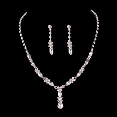 Gorgeous Alloy With Crystal Ladies' Jewelry Sets