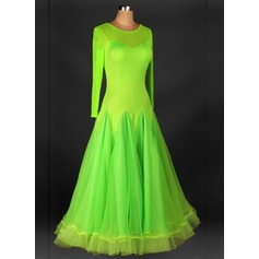 Women's Dancewear Organza Latin Dance Dresses (115091488)