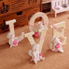 Beautiful Love Design Resin Ornament (Set of 4)