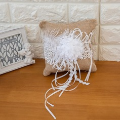 Pure Elegance Ring Pillow in Satin With Ribbons