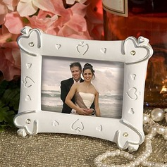 Classic Heart Design Resin Photo Frames With Rhinestone