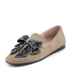 De mujer Ante Tacón plano Planos con Bowknot zapatos