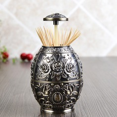 Press and Automatic Vintage Style Tin Alloy Toothpick Box