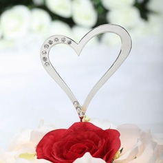 """""""Loving You With All My Heart"""" Chrome Wedding Cake Topper"""