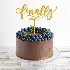 """Finally"" Acrylic Cake Topper"