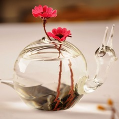 Snail design Glass Vase