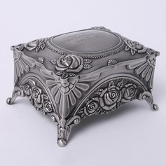 Personalized Flower Design Zinc Alloy Jewelry Holders With Flowers