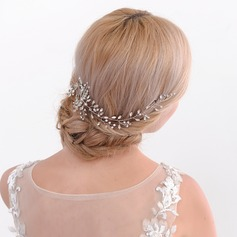 Ladies Pretty Alloy Combs & Barrettes With Crystal (Sold in single piece)