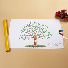 Personalized Tree And Birds Canvas Fingerprint Painting