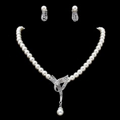 Hottest Alloy With Pearl/Rhinestone Women's Jewelry Sets (011019402)