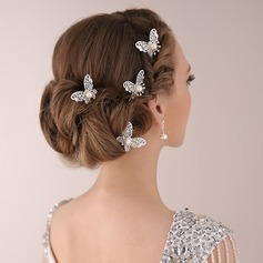Beautiful Rhinestone/Alloy/Imitation Pearls Hairpins (Set of 2)