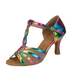 Women's Leatherette Latin With T-Strap Dance Shoes