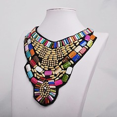 Exotic Fabric Beads Ladies' Fashion Necklace (Sold in a single piece)
