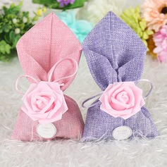 Lovely/Rose Design/Elegant Other Linen Favor Bags