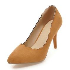 Mulheres Camurça Salto agulha Bombas Fechados sapatos