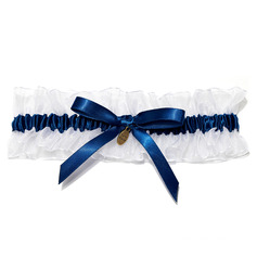Lovely Satin With Bowknot Wedding Garters (104019470)