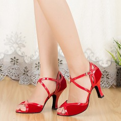 Women's Suede Sandals Latin With Ankle Strap Dance Shoes