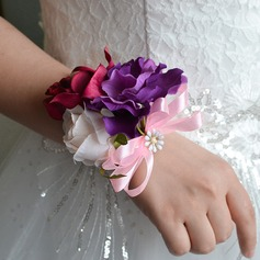 Lovely Ribbon/Silk linen Wrist Corsage