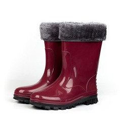 Women's PVC Flat Heel Boots Mid-Calf Boots Rain Boots With Others shoes