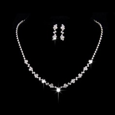 Elegant Alloy/Copper With Rhinestone Ladies' Jewelry Sets