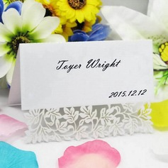 Elegant Flower Design Pearl Paper Place Cards