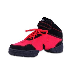 Women's Men's Canvas Sneakers Practice With Lace-up Dance Shoes