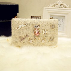 Lovely PU Clutches/Wristlets