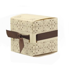 Elegant Cubic Favor Boxes With Ribbons