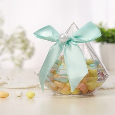 Creative/Candy Design Bottle shaped Plastic Candy Jars and Bottles With Ribbons