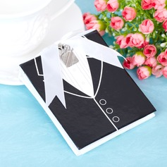 Side by Side Bride And Groom Resin Photo Album With Ribbons
