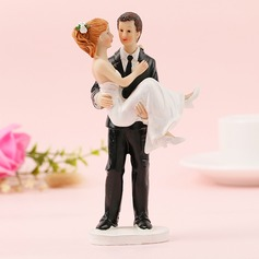Classic Couple/Mr. & Mrs. Resin Cake Topper (Sold in a single piece)