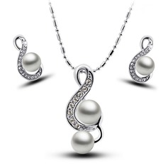 Beautiful Alloy/Silver Plated Ladies' Jewelry Sets