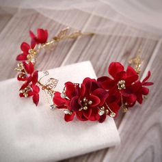 Eye-catching Artificial Silk/Gold Plated Headbands