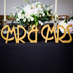 """Mr. & Mrs."" Madera Regalos Creativos"