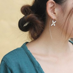 Exquisite Silver Plated Ladies' Earrings