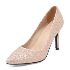 Mulheres Espumante Glitter Salto agulha Bombas Fechados com Outros sapatos