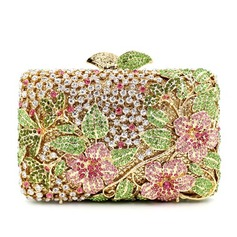 Shining Crystal/ Rhinestone/Silver Plated Clutches/Luxury Clutches