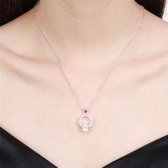 Classic Alloy Rhinestones With Rhinestone Ladies' Fashion Necklace