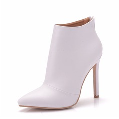 Women's Leatherette Stiletto Heel Boots Pumps