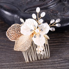 Classic Alloy Combs & Barrettes With Venetian Pearl