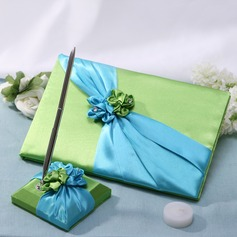 Blue and Green Guestbook & Pen Set
