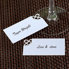 Simple Pearl Paper Place Cards