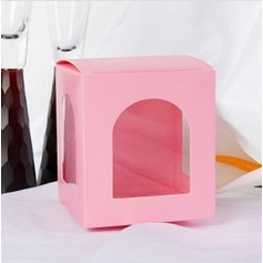 Lovely Cubic Favor Boxes With Window