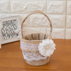 Beautiful Flower Basket in Satin With Flower (102093297)
