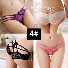 Lace Bridal Panties (Set of 4, Random color)