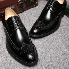 Men's Microfiber Leather Lace-up Brogue Casual Men's Oxfords