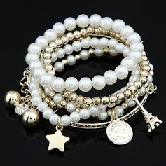 Fashion Alloy With Pearl Women's Bracelets