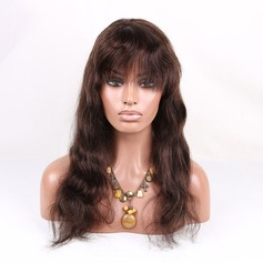 5A Virgin/remy Body Wavy Human Hair Lace Front Wigs 160g