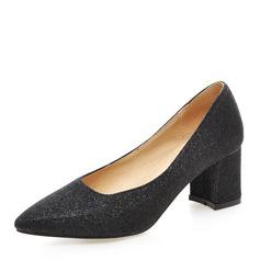 Femmes Pailletes scintillantes Talon bottier Escarpins Bout fermé chaussures