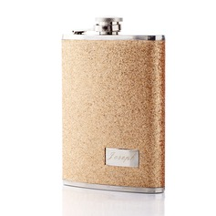 Personalized Great Stainless Steel/Leatherette Flask